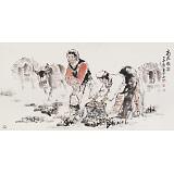 杨西沐 四尺《高原牧歌》 东方书画院名誉院长