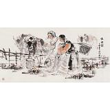 杨西沐 四尺《牧归图》 东方书画院名誉院长