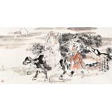 杨西沐 四尺《老子出关》 东方书画院名誉院长