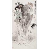 杨西沐 四尺《钟馗嫁妹图》 东方书画院名誉院长
