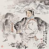 杨西沐 四尺斗方《高原初雪》 东方书画院名誉院长