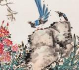 曲逸之 六尺《江南春早》 河南省著名花鸟画家