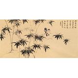 皇甫小喜 四尺《竹生空野外》 河南著名花鸟画家