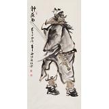 杨西沐 三尺《神威图》 东方书画院名誉院长