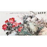曲逸之 六尺《富贵长寿》 河南省著名花鸟画家
