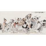 杨西沐 四尺《八仙图》 东方书画院名誉院长