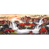 【已售】吴东 小八尺《万山红遍》 著名易经风水画家