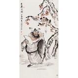 杨西沐 四尺《子乐民间》 东方书画院名誉院长