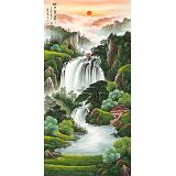【已售】吴东 四尺《旭日东升》 著名易经风水画家
