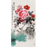 【已售】王宝钦 三尺《花开富贵》当代花鸟牡丹画名家(询价)