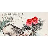 曲逸之 四尺《春醉》 河南省著名花鸟画家