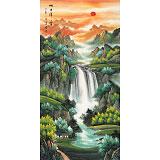 【已售】吴东 四尺《旭日祥云》 著名易经风水画家