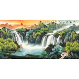 【已售】吴东 四尺《源远流长》 著名易经风水画家