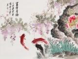 王宝钦 小六尺《富贵有余》当代花鸟牡丹画名家(询价)