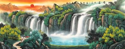 【已售】吴东 小六尺《福地安居》 著名易经风水画家