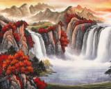 吴东 小八尺《万山红遍》 著名易经风水画家