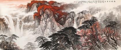 李碧峰 小八尺《秋晴泉气香》 中国书画家协会理事
