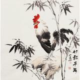 皇甫小喜 四尺斗方《竹报平安》 河南著名花鸟画家