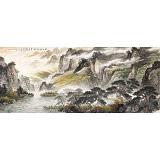 【已售可订制】李碧峰 小八尺《秋山放牧图》 中国书画家协会理事