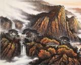 张慧仁 小八尺《秋山帆影图》 广西山水画家协会常务理事
