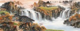 【已售】杨铭昌 小六尺《源远流长》 安徽最新博彩大全研究协会理事