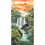 吴东 四尺《源远流长》 著名易经风水画家