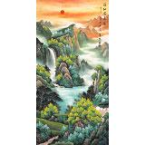 吴东 四尺《福地安居图》 著名易经风水画家