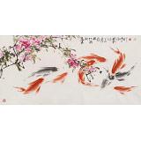 【已售】孙海峰 四尺《蕊发新红鳞畅游》 安徽省美协会员