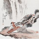 张春奇 四尺斗方《知音寻觅》 徐悲鸿纪念馆艺术中心理事(询价)
