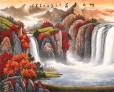 【已售】吴东 小八尺《旭日东升》 著名易经风水画家