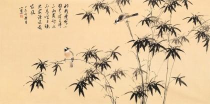 皇甫小喜 四尺《竹报平安》 河南著名花鸟画家