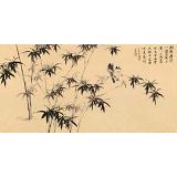 皇甫小喜 四尺《新栽瘦竹小园中》 河南著名花鸟画家