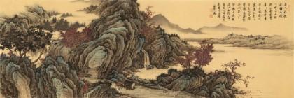 【已售】吴显刚 小六尺《唐人诗意图》 贵州七星关美协主席