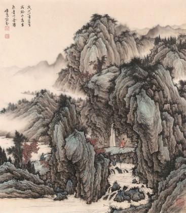 吴显刚 《溪山高至图》 贵州七星关美协主席