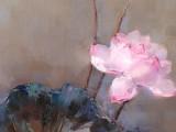 郭莹 《映日荷花》四联 北京著名女油画家