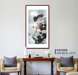 【已售】孙浩群 《月融融 情依依》 八十岁学院派绘画名家(询价)