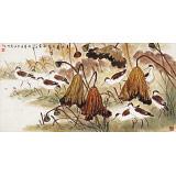 【已售】孙浩群 《莲池自有赏秋处》 八十岁学院派绘画名家(询价)