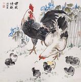 【已售】孙浩群 《田园情趣》 八十岁学院派绘画名家(询价)
