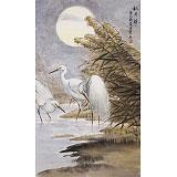 【已售】孙浩群 《秋月朗朗》 八十岁学院派绘画名家(询价)