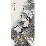 【已售】朱祖义 四尺《松鹤万寿》 中国老子书画院副院长