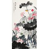 【已售】朱祖义 四尺《香远益清》 中国老子书画院副院长