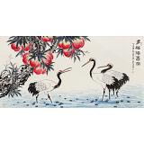 朱祖义 四尺《多幅仙寿图》 中国老子书画院副院长