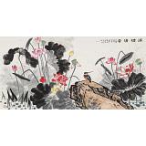 朱祖义 四尺《满塘清香》 中国老子书画院副院长