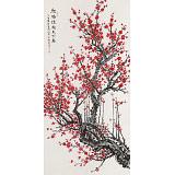 【已售】朱祖义 四尺《红梅绽放天下春》 中国老子书画院副院长