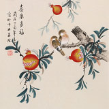【已售】凌雪 三尺斗方《喜乐多福》 北京美协会员