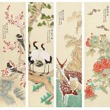 凌雪 四条屏《福泰安康》 北京美协会员