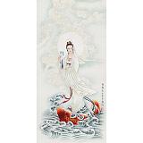 南海禅寺 妙林居士 四尺《南海观音》