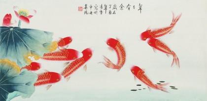 【已售】凌雪 三尺《年年有余》 北京美协会员