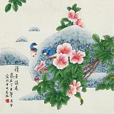 【已售】凌雪 四尺斗方《清香溢远》 北京美协会员