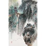 谭良干 大三尺《雨后青山》 贵州山水画名家